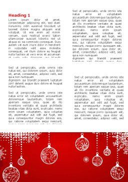 Red New Year Theme Word Template, First Inner Page, 07018, Holiday/Special Occasion — PoweredTemplate.com