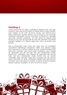 Red New Year Theme Word Template, Second Inner Page, 07018, Holiday/Special Occasion — PoweredTemplate.com