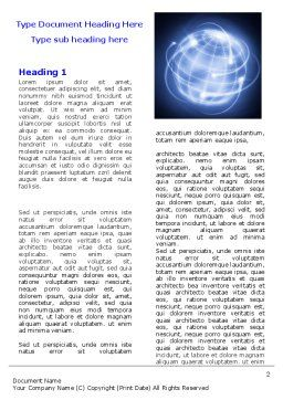 World Communication Word Template First Inner Page