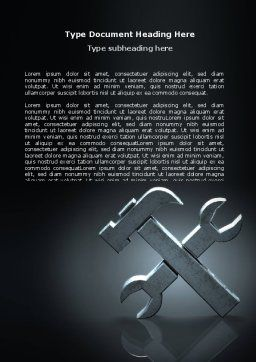 Stylized Tools In Gray Color Word Template, Cover Page, 07024, Utilities/Industrial — PoweredTemplate.com