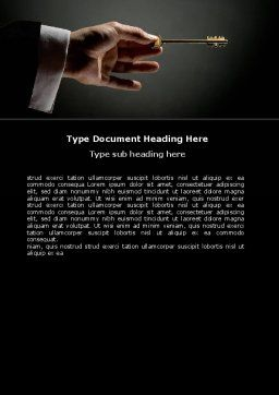 Choosing Key Word Template, Cover Page, 07028, Consulting — PoweredTemplate.com