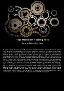Mechanical Wheels Word Template, Cover Page, 07034, Utilities/Industrial — PoweredTemplate.com