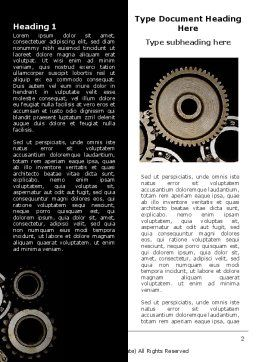 Mechanical Wheels Word Template, First Inner Page, 07034, Utilities/Industrial — PoweredTemplate.com