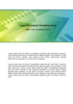 Dynamics Abstract Word Template, Cover Page, 07035, Business Concepts — PoweredTemplate.com
