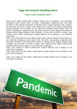 Pandemic Word Template, Cover Page, 07036, Medical — PoweredTemplate.com