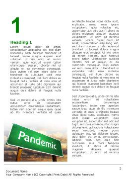 Pandemic Word Template, First Inner Page, 07036, Medical — PoweredTemplate.com