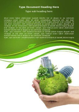 Green Habitat Word Template, Cover Page, 07037, Nature & Environment — PoweredTemplate.com