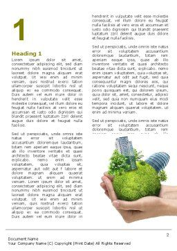 Green Habitat Word Template First Inner Page