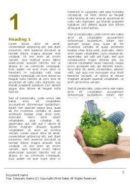 Green Habitat Word Template, First Inner Page, 07037, Nature & Environment — PoweredTemplate.com