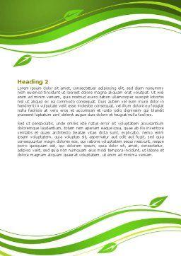 Green Habitat Word Template, Second Inner Page, 07037, Nature & Environment — PoweredTemplate.com