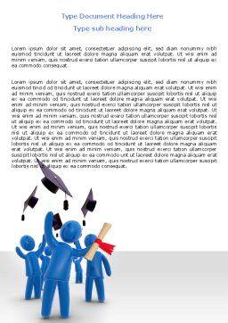 Graduation Word Template, Cover Page, 07038, Education & Training — PoweredTemplate.com
