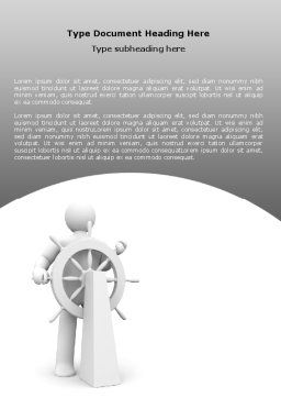 Steersman Word Template, Cover Page, 07044, Business Concepts — PoweredTemplate.com