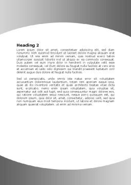 Steersman Word Template, Second Inner Page, 07044, Business Concepts — PoweredTemplate.com