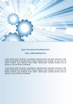 Industry Light Word Template, Cover Page, 07051, Utilities/Industrial — PoweredTemplate.com