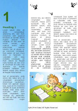 Carefree Child Word Template First Inner Page