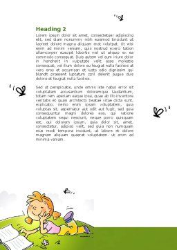 Carefree Child Word Template Second Inner Page