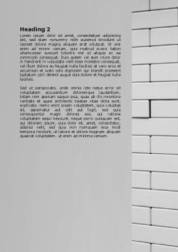 Breaking the Wall Word Template, Second Inner Page, 07058, Business Concepts — PoweredTemplate.com