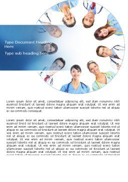 Medical Personnel Circle Word Template Cover Page