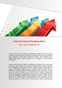 Positive Results Word Template, Cover Page, 07064, Business Concepts — PoweredTemplate.com
