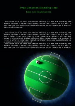 Football Planet Word Template, Cover Page, 07068, Sports — PoweredTemplate.com