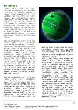 Football Planet Word Template, First Inner Page, 07068, Sports — PoweredTemplate.com