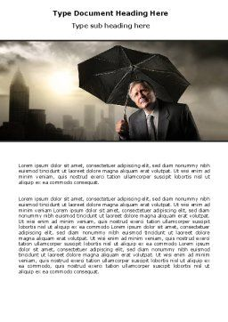 Umbrella Man Word Template, Cover Page, 07069, Consulting — PoweredTemplate.com