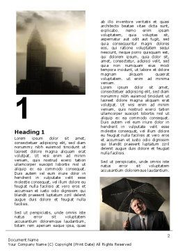 Umbrella Man Word Template, First Inner Page, 07069, Consulting — PoweredTemplate.com