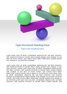 Balanced Balls And Beams Word Template, Cover Page, 07070, Consulting — PoweredTemplate.com