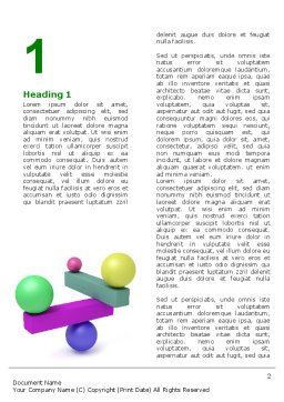 Balanced Balls And Beams Word Template, First Inner Page, 07070, Consulting — PoweredTemplate.com
