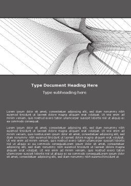 Abstract Tunnel Turn Word Template, Cover Page, 07071, Construction — PoweredTemplate.com