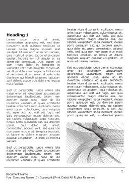 Abstract Tunnel Turn Word Template, First Inner Page, 07071, Construction — PoweredTemplate.com