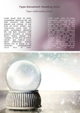 Crystal Ball Word Template, Cover Page, 07073, Holiday/Special Occasion — PoweredTemplate.com