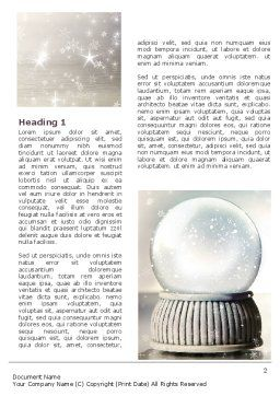 Crystal Ball Word Template, First Inner Page, 07073, Holiday/Special Occasion — PoweredTemplate.com