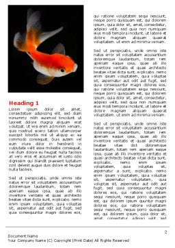 Goldfish On The Black Background Word Template, First Inner Page, 07074, Agriculture and Animals — PoweredTemplate.com