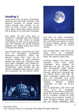 Mosque In Moonlight Word Template First Inner Page