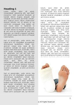 Foot Plaster Word Template, First Inner Page, 07080, Medical — PoweredTemplate.com