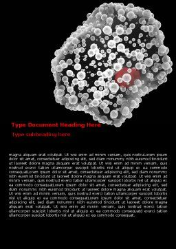 White Blood Cell Word Template, Cover Page, 07083, Medical — PoweredTemplate.com