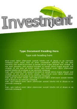 Investment Word Template Cover Page