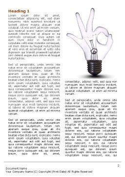 Smart Electricity Word Template First Inner Page