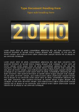 2010 Counter Word Template, Cover Page, 07088, Holiday/Special Occasion — PoweredTemplate.com