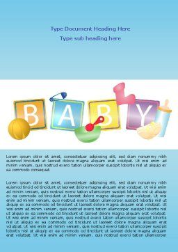 Baby Theme Word Template Cover Page