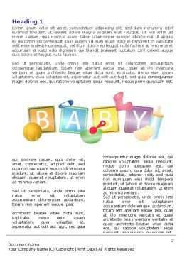 Baby Theme Word Template First Inner Page