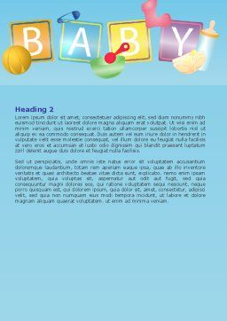 Baby Theme Word Template Second Inner Page