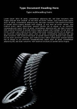 Black Gears Word Template, Cover Page, 07095, Utilities/Industrial — PoweredTemplate.com