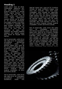 Black Gears Word Template, First Inner Page, 07095, Utilities/Industrial — PoweredTemplate.com