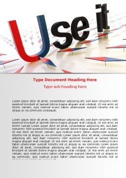 Use It Word Template, Cover Page, 07096, Consulting — PoweredTemplate.com