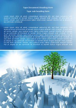 Industrialization and Nature Word Template, Cover Page, 07103, Nature & Environment — PoweredTemplate.com