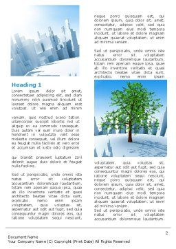 Industrialization and Nature Word Template, First Inner Page, 07103, Nature & Environment — PoweredTemplate.com