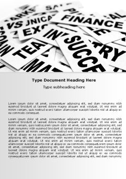 Business Words Word Template, Cover Page, 07104, Consulting — PoweredTemplate.com