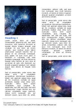 Violet Nebula Word Template, First Inner Page, 07105, Nature & Environment — PoweredTemplate.com